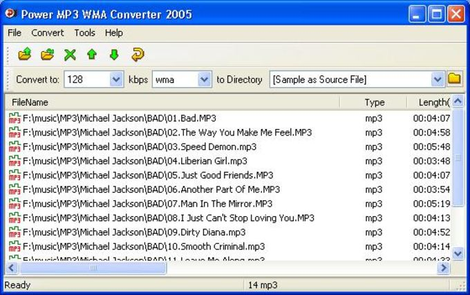 Power MP3 WMA Converter