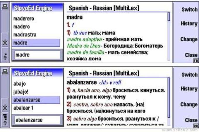SlovoEd Nokia Communicator: Ruso-Español