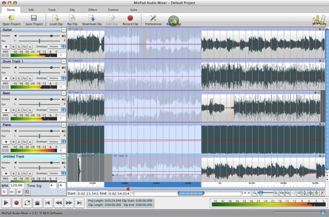 MixPad Free Music Mixer for Mac