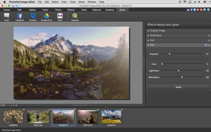 PhotoPad Free Mac Photo Editing Software