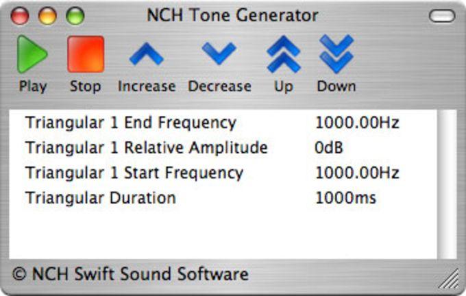 Tone Generator for Mac