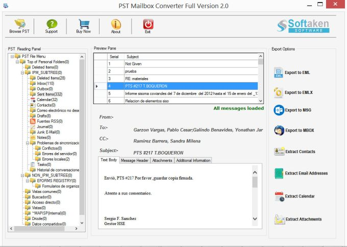 PST Mailbox Converter Convert PST to EML MBOX MSG
