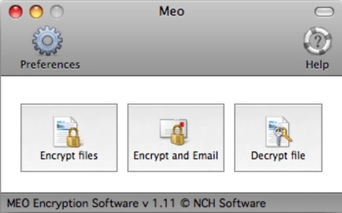 MEO Free File Encryption for Mac