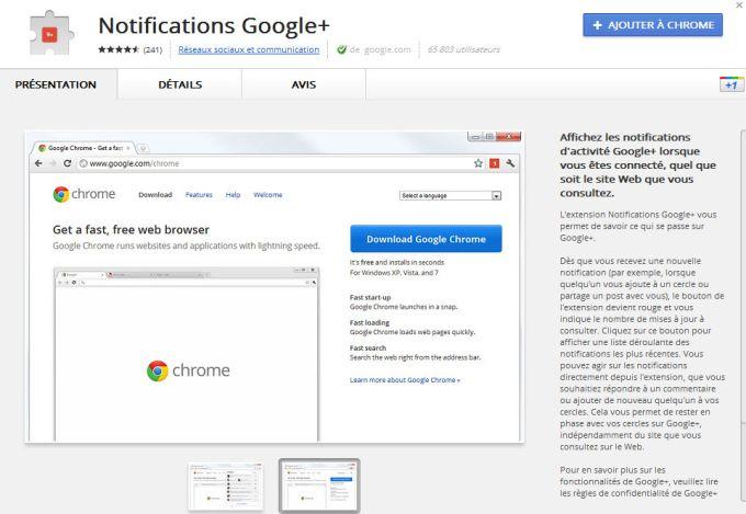 Notifications Google+