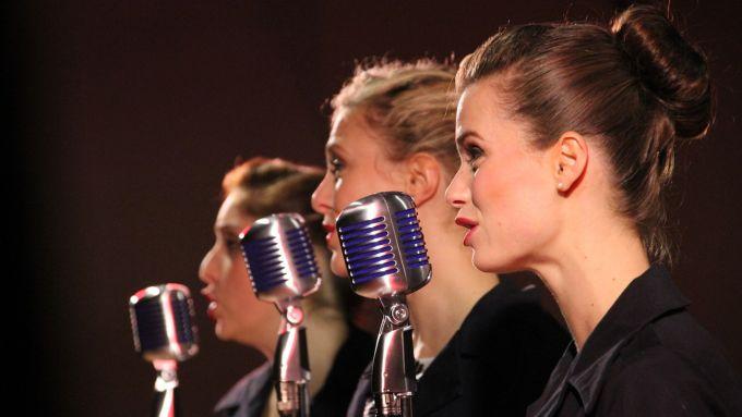 Women singing acapella