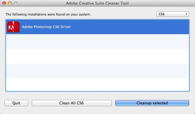 Adobe Creative Suite Cleaner Tool