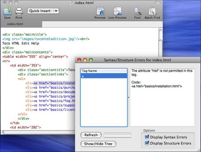 Taco HTML Edit