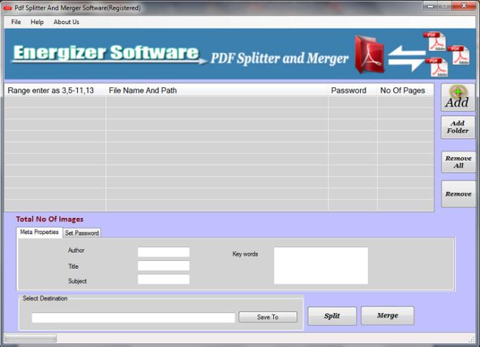 PDF Splitter and Merger Software
