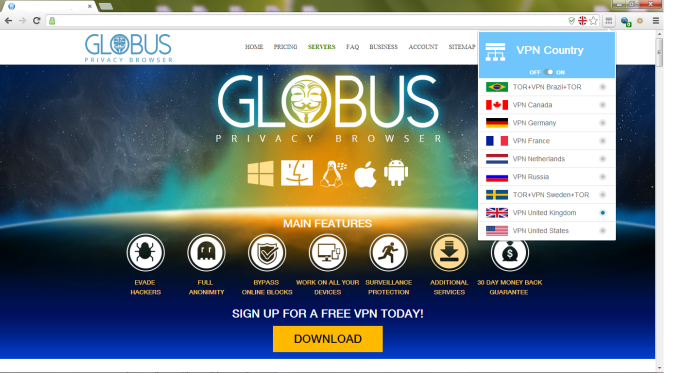 Globus Privacy Browser