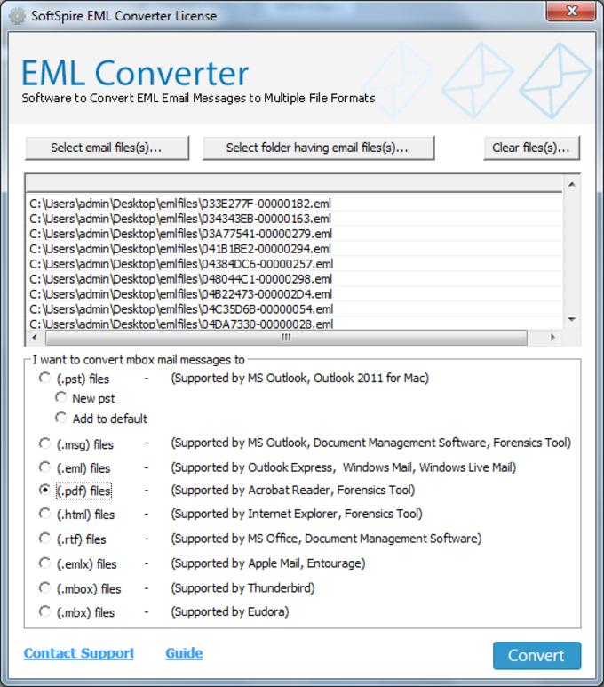 SoftSpire EML Converter