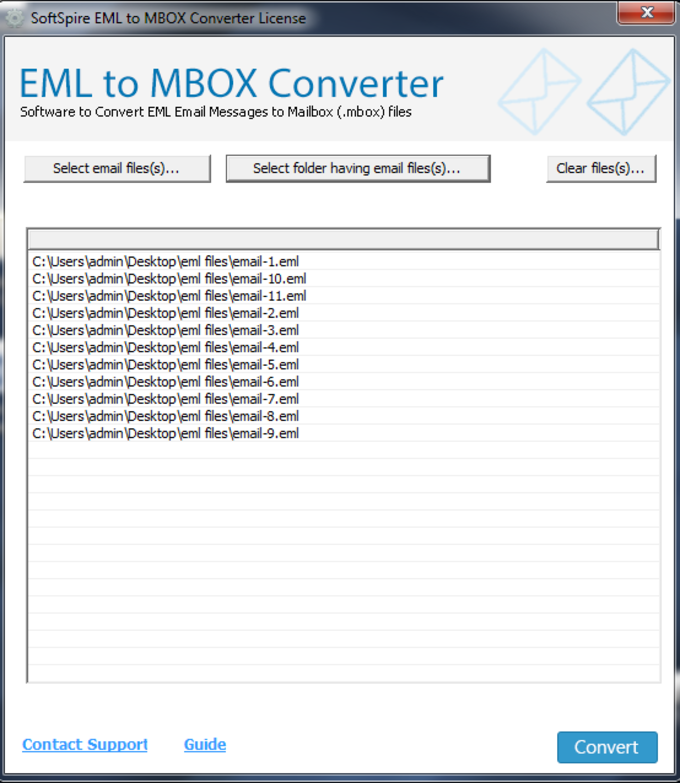 SoftSpire EML to MBOX Converter