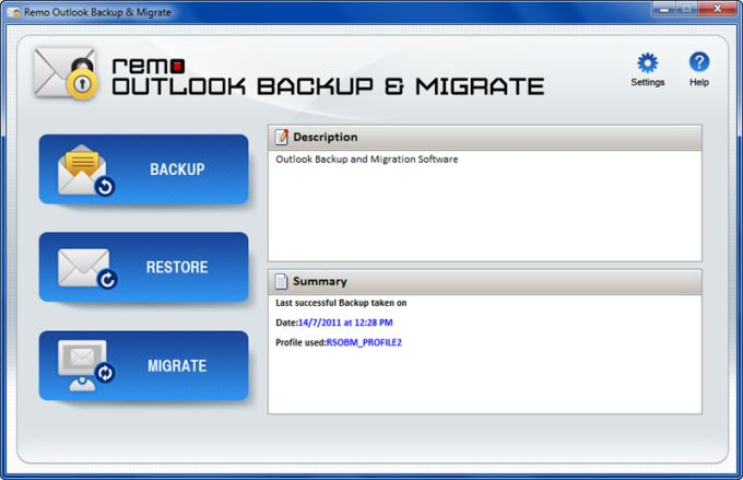 Remo Outlook Backup & Migrate