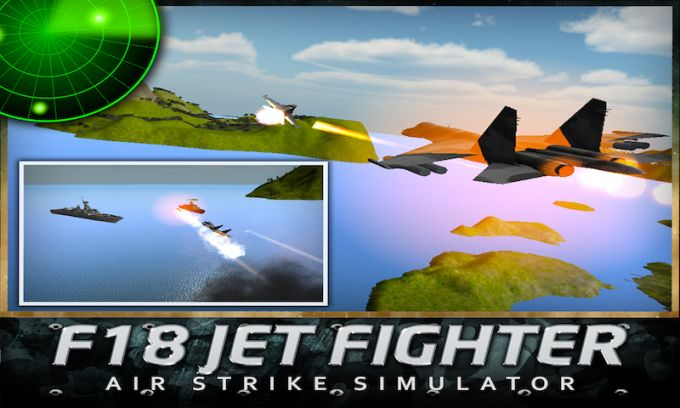 F18 Jet Fighter Air Strike