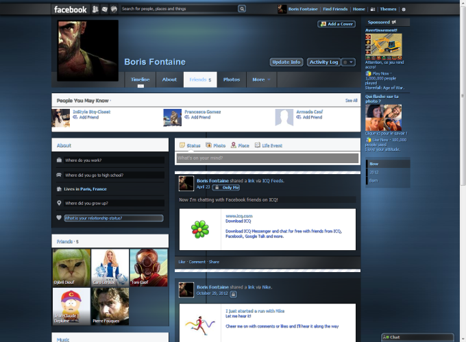 Facebook Themes (Facebook Style Gallery)
