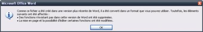 Pack de compatibilité Microsoft Office
