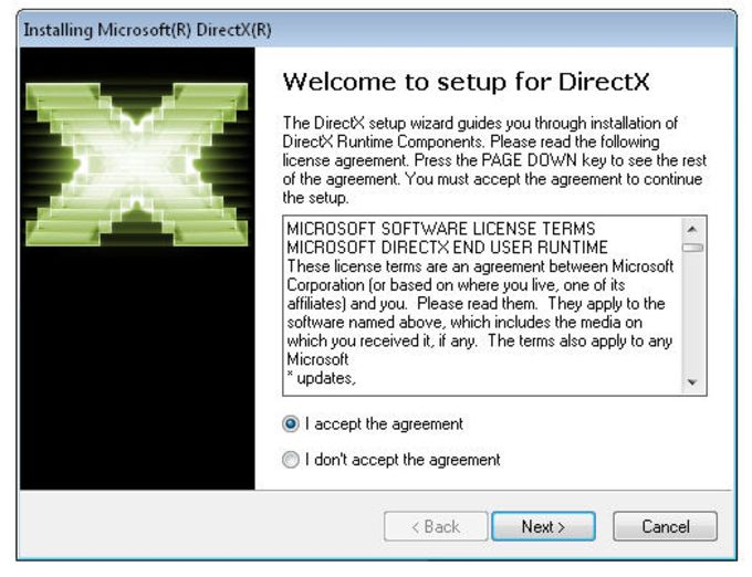 DirectX End-User Runtime Web Installer