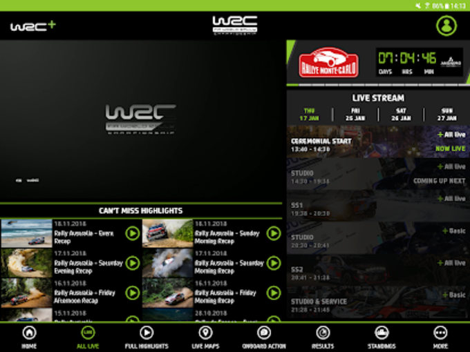 WRC  The Official App
