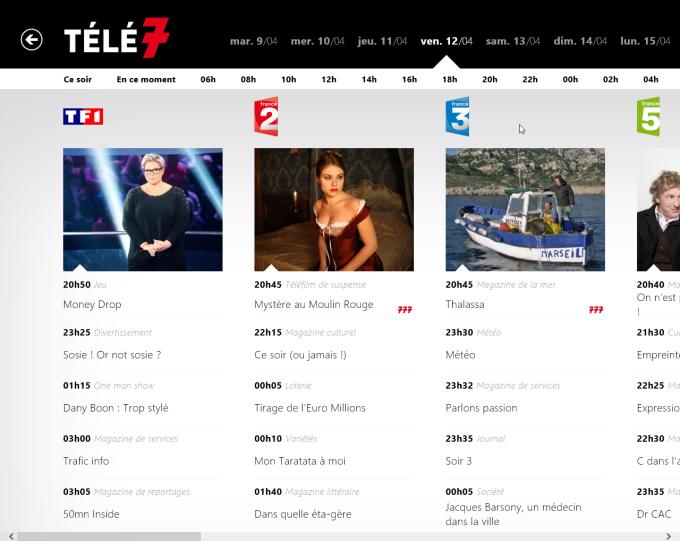 Télé 7 Programme TV pour Windows 10