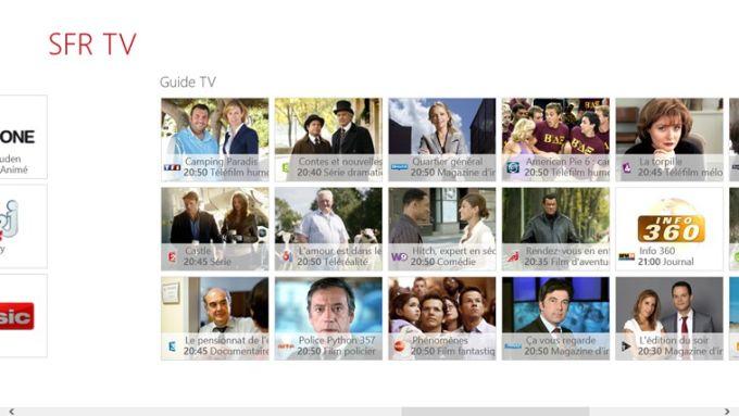 SFR TV pour Windows 10