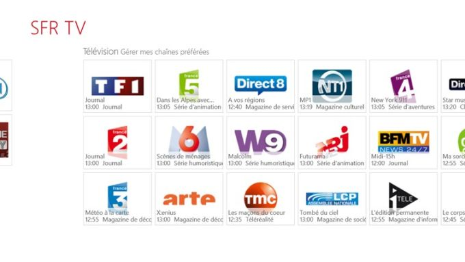 SFR TV pour Windows 10