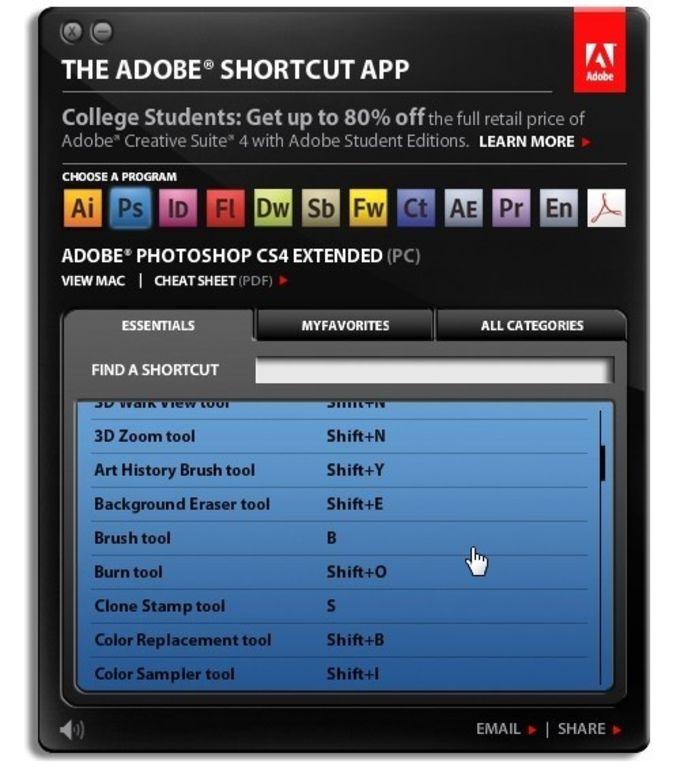 Adobe Shortcut
