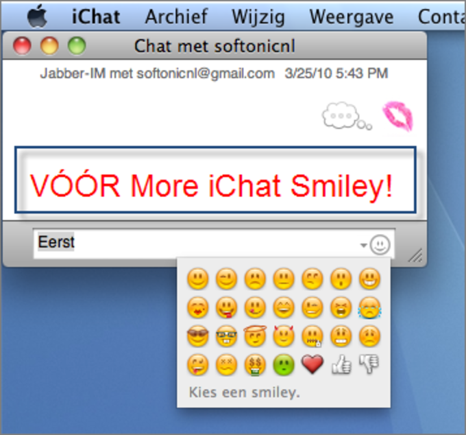 More iChat Smileys
