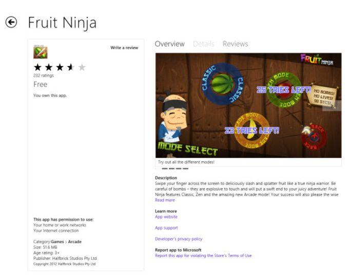 Fruit Ninja para Windows 10