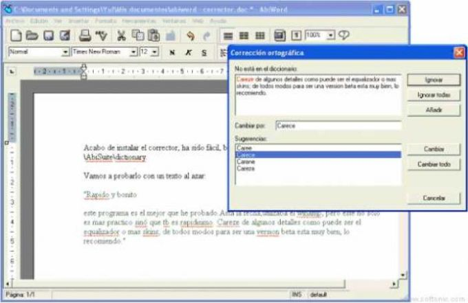 AbiSpell AbiWord Spanish Dictionary