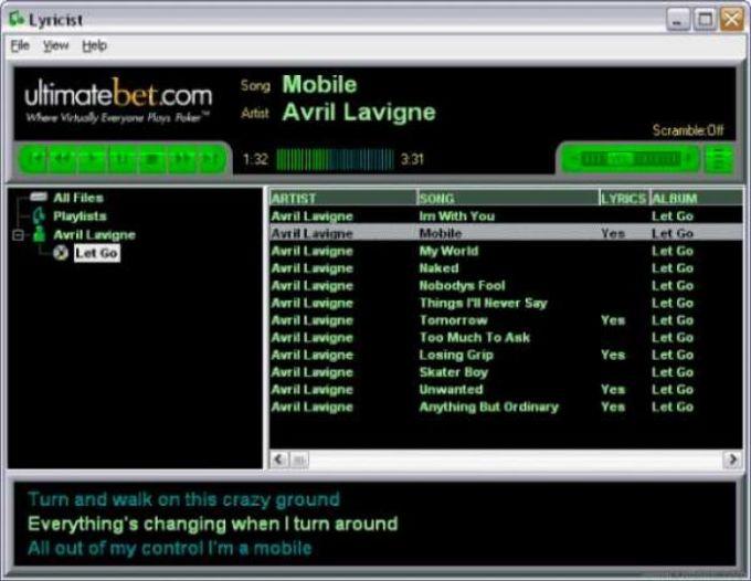 Lyricist MP3 Player