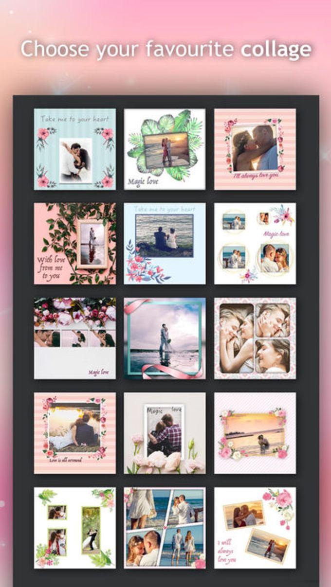 Old Fashioned Love Photo Collage Frames Illustration - Frame Photo ...