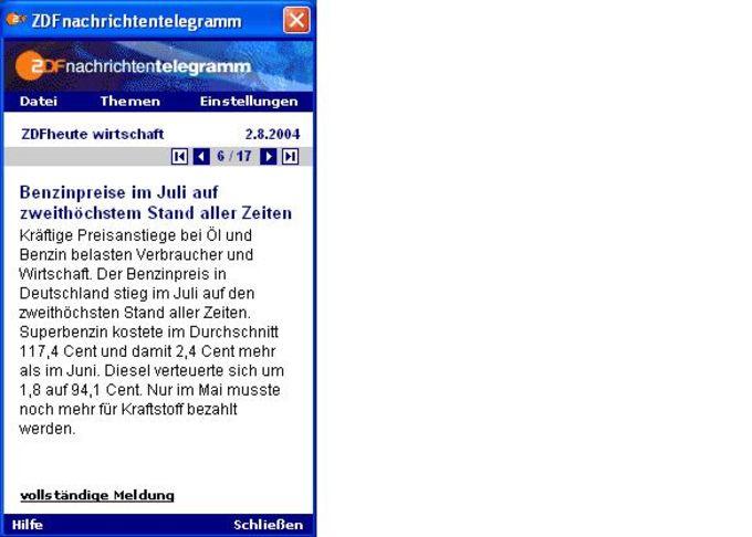 ZDF-Nachrichtentelegramm
