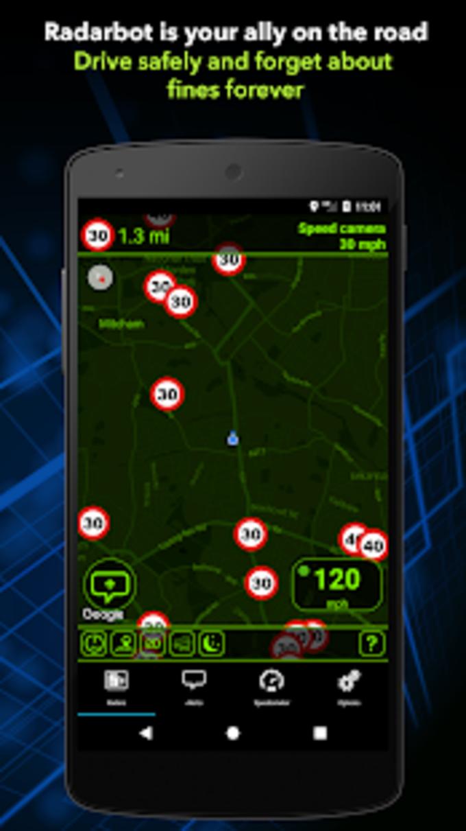 Radarbot Free: Speed Camera Detector  Speedometer