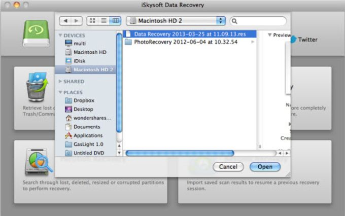 iSkysoft Data Recovery for Mac
