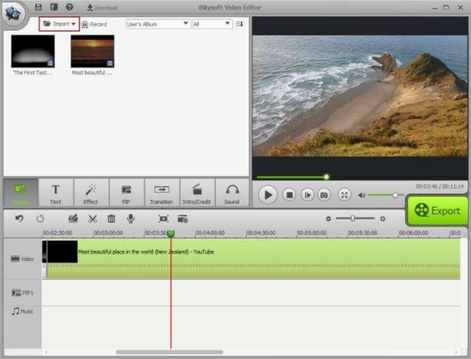 iSkysoft Video Editor for Mac