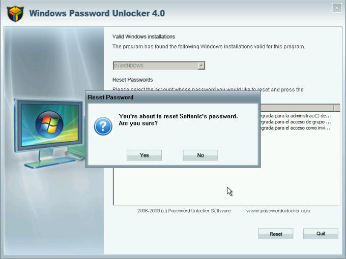 Windows Password Unlocker