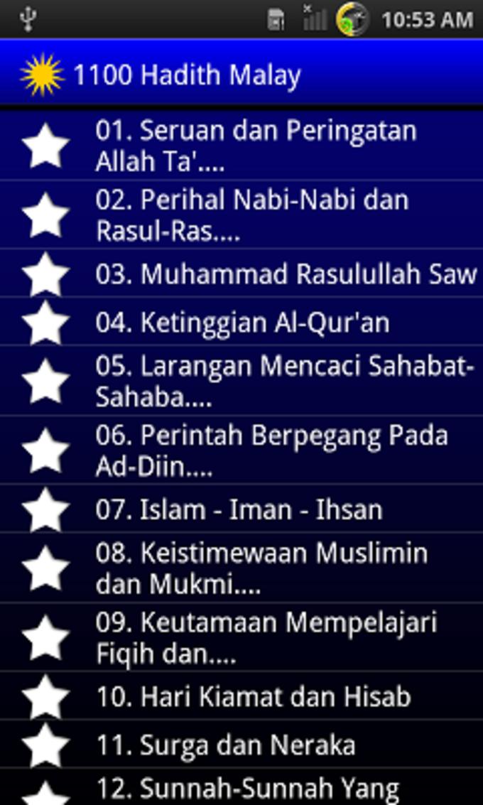 1100 Hadis Terpilih Malay