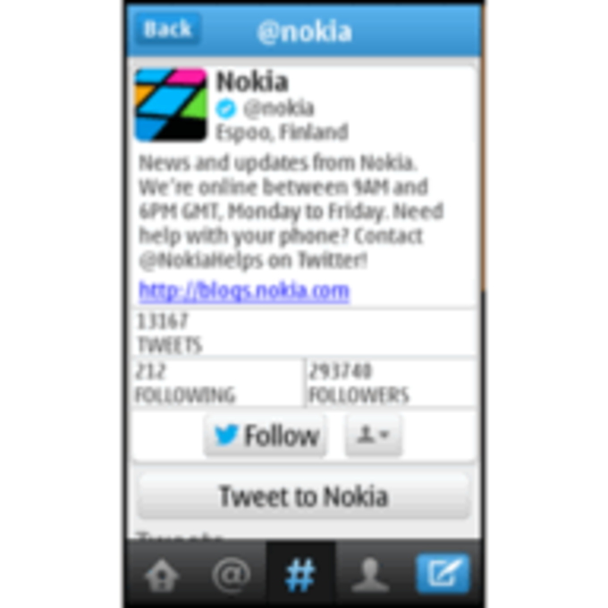 Twitter for Nokia