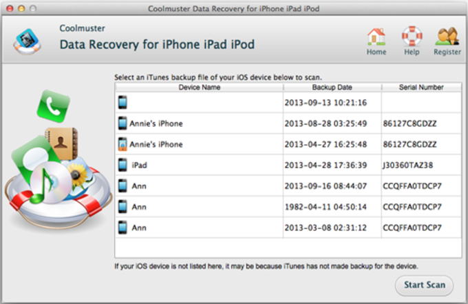 Coolmuster Data Recovery for iPhone iPad iPod to Mac