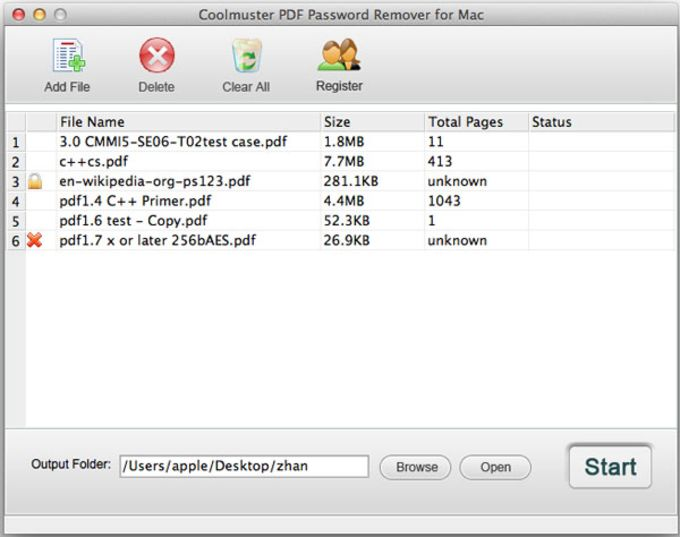 Coolmuster PDF Password Remover for Mac