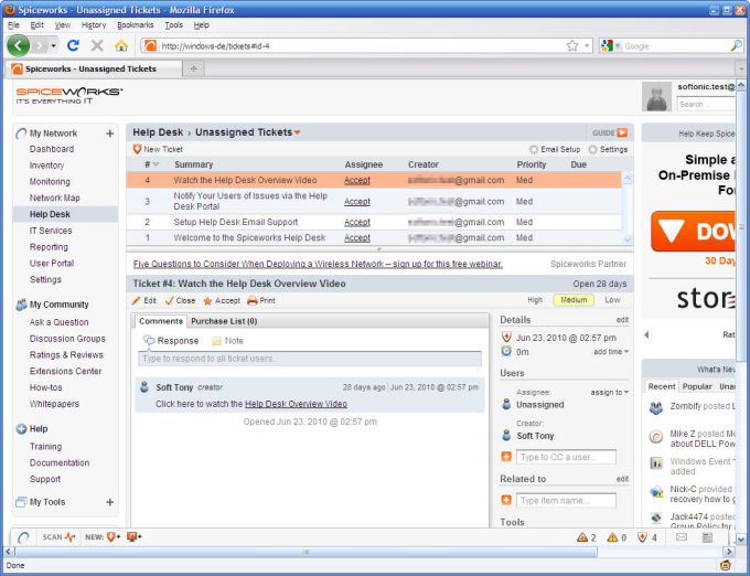 Spiceworks  IT Management Software