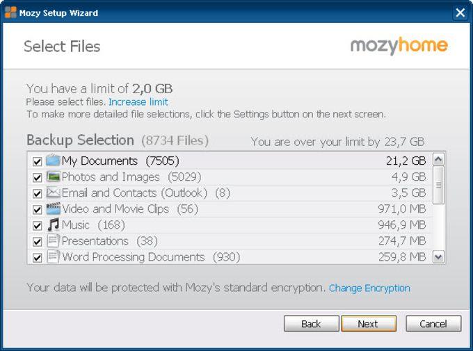 MozyHome Backup