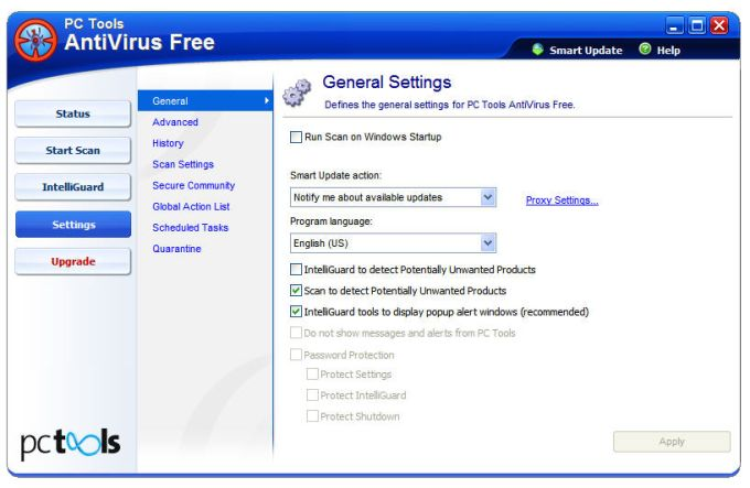 free antivirus least system resources