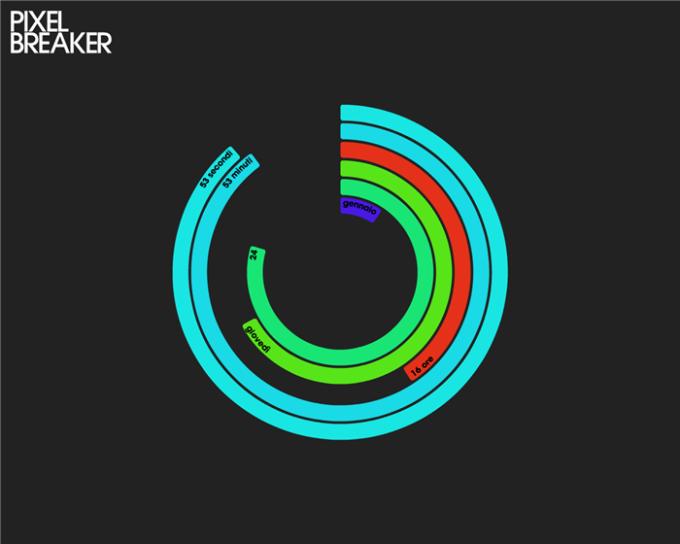 PixelBreaker PolarClock Screensaver