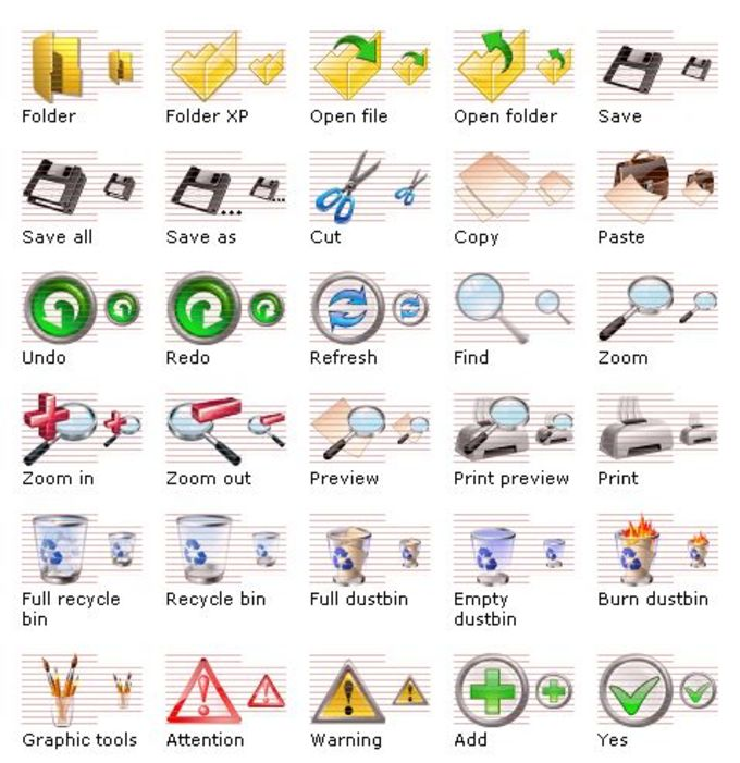 Vista Toolbar Icons