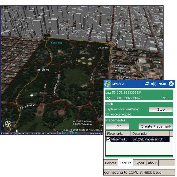 GPS2GoogleEarth