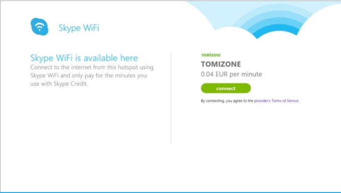 Skype WiFi for Windows 10