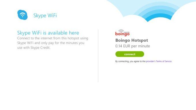 Skype WiFi für Windows 10