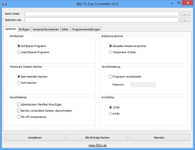Bat To Exe Converter (64 Bit)
