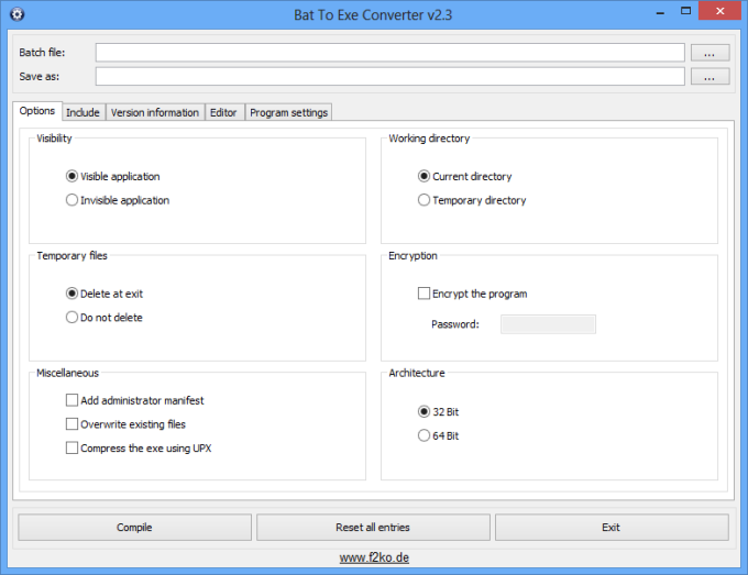 Download Advanced Bat To Exe Converter for Windows