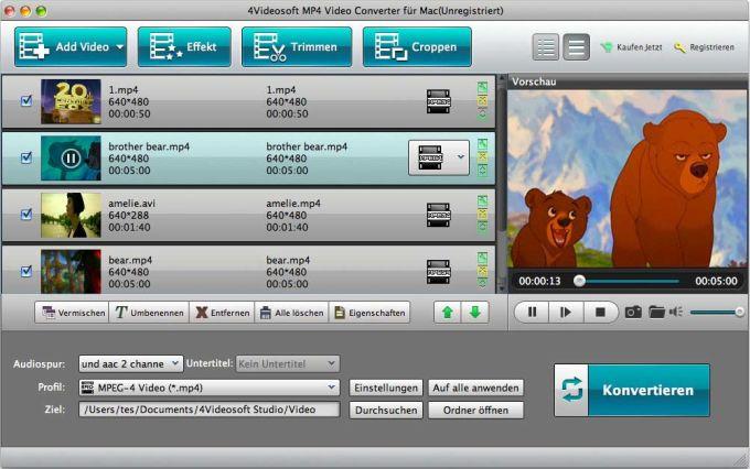 4Videosoft MP4 Video Converter für Mac